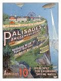 Parc d'attraction de Palisades Giclée