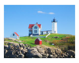Nubble Lighthouse in York Beach  Maine