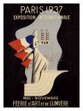 Affiche d'Epoque Exposition Internationale Paris1937 Giclée