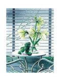 Fenster mit Lilien