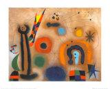 Libelle Mit Roten Flugeln Eine Schlange Jagend Reproduction d'art par Joan Miró