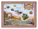 Antique Map of Old Hawaii Giclée par Steve Strickland