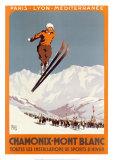 Chamonix - Mont Blanc Reproduction d'art par Alo (Charles-Jean Hallo)