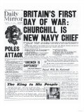 Britain's First Day of War: Churchill is New Navy Chief