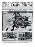 British Soldiers Firing on the Rebels in Dublin; Machine Guns in Action in the Streets