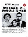 King Edward Will Broadcast Tonight