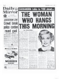 The Woman Who Hangs This Morning