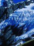 Hiker Ascending at Cascade Saddle  Mt Aspiring National Park  Otago  New Zealand
