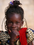 Portrait of Young Girl  Langue De Barbarie National Park  St Louis  Senegal