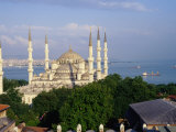 Sultan Ahmet Camii (Blue Mosque) and the Bosphorus Strait  Istanbul  Istanbul  Turkey