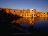 Sunset Illuminates Pol-E Khaju Bridge  Esfahan  Iran