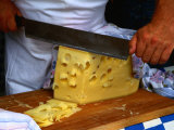 Slicing of Block of Cheese  Freising  Germany