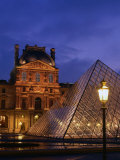 The Louvre Museum and Pyramid  Paris  Ile-De-France  France