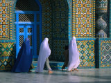 Worshippers Visiting Shrine of Hazrat Ali (Blue Mosque)  Mazar-E Sharif  Afghanistan