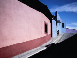 Colourful Buildings in Street  Real Del Monte  Mexico