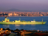 Oil Tanker at Golden Horn on Bosphorous  Istanbul  Turkey