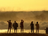 People Checking Out Waves  Banzai Pipeline  North Shore  at Sunset  USA