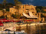 Boats on Waterfront  Byblos  Jabal Lubnan  Lebanon