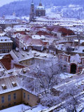 Snow-Covered Rooftops of Mala Strana  Prague  Czech Republic