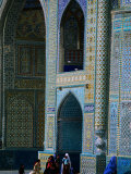 People Visiting Shrine of Hazrat Ali (Blue Mosque)  Mazar-E Sharif  Afghanistan