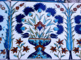 Decorative Tiles in Topkapi Palace  Istanbul  Turkey