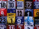 Soccer Shirts for Sale in Piazza Della Repubblica  Florence  Tuscany  Italy