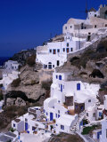 White Cliff-Side Houses  Oia  Santorini Island  Southern Aegean  Greece