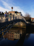 The Decorative Cast-Iron Arch of Dublin's Ha'Penny Bridge  Dublin  Ireland