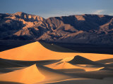 Sand Dunes and Mountain Range  Death Valley National Park  California  USA