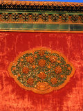 Decorative Motif on Wall in Forbidden City Bejing  China