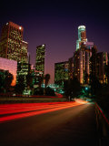 Dusk Lights Over the City  Los Angeles  California  USA