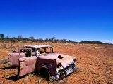 Abandoned Old Holden Car on Mereenie Loop Road  Australia