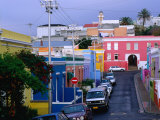 Bo-Kaap  Chiappini Street  Muslim Cape-Malay Area  Wide Angle  Cape Town  South Africa