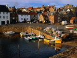 Boats in Crail Harbour Crail  Fife  Scotland