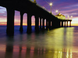 Manhattan Beach Pier  Los Angeles  Los Angeles  California  USA