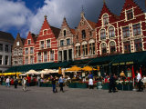 The Central Square in Brugges  Belgium