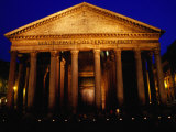 Pantheon Illuminated at Night  Rome  Italy