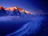 Grossglockner Rising Above Pasterze Glacier  Hohe Tauren National Park  Salzburg Province  Austria