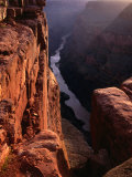 The Colorado River at Sunrise from the Toroweep Lookout  Grand Canyon National Park  Arizona  USA