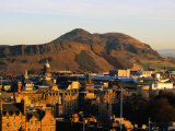 Holyrood Park and Arthur's Seat Seen from Edinburgh Castle  Edinburgh  United Kingdom
