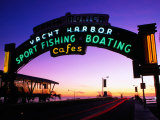 Neon Sign on Santa Monica Pier  Los Angeles  United States of America