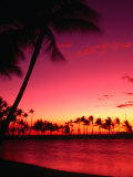 Sunset at Anaehoomalu on the Kohala Coast  Waikoloa  Hawaii (Big Island)  Hawaii  USA