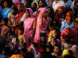 Crowd of Women in Traditional Dress  Jaisalmer  Rajasthan  India