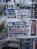 Russian Newspapers  Including Pravda and Moscow Evening News  at Newsstand  Moscow  Russia
