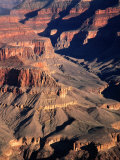 Overhead of South Rim of Canyon  Grand Canyon National Park  USA
