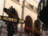 Rodeo Drive Street Sign in Beverley Hills  Los Angeles  USA