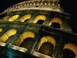 Colosseum Illuminated at Night Rome  Italy