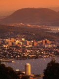 Hobart from Mt Nelson  Hobart  Tasmania  Australia