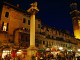 Piazza Delle Erbe  Historic Heart of the City  Verona  Veneto  Italy