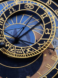 Astronomical Clock Detail in Staromestske Square  Prague  Czech Republic